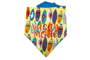 """Vacay Mode"" Print Dog Bandana"