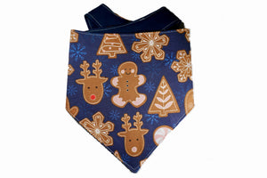 "Personalized Gingerbread Dog Bandana ""Take A Bite Out Of Christmas"""