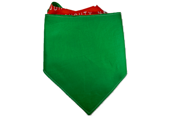 "Personalized Naughty Dog Bandana ""Naughty List"""