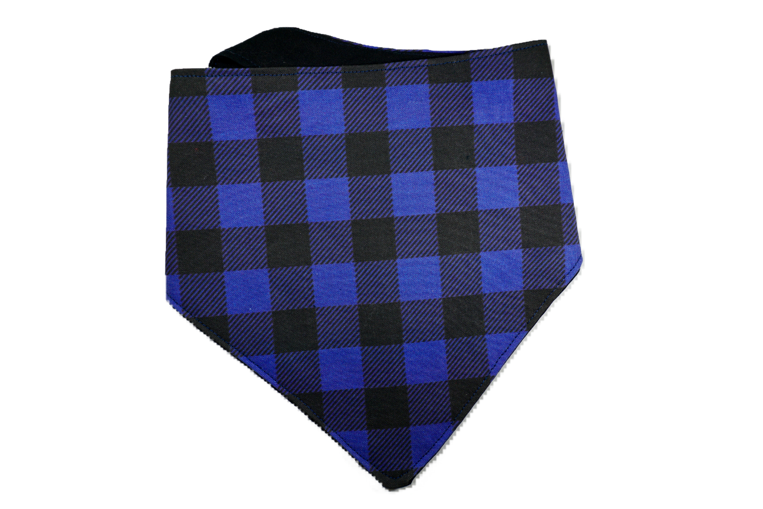 "Personalized Blue Buffalo Plaid Dog Bandana ""Blue Christmas"""