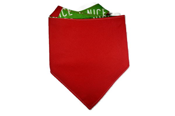 "Personalized Nice Dog Bandana ""Nice List"""
