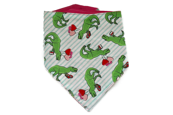 "Personalized Dinosaur Valentine's Day Bandana ""Rawr Means I Love You"""