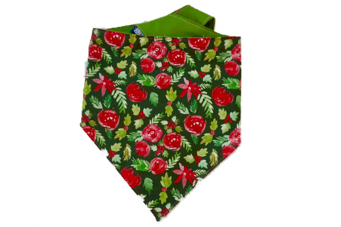 "Personalized Holly Dog Bandana ""Deck The Halls"""