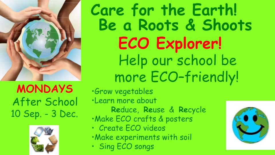 Roots & Shoots ECO Explorers (Primary School Students)
