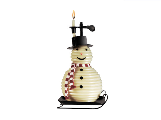 Candle by the Hour - 100 Hour Snowman Black Base (20657B)
