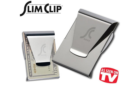 Slim Clip - Double Sided Money Clip! (Black Chrome)