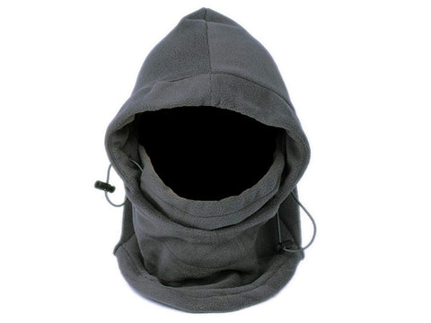 PolarEx 6-in-1 Fleece Hood- Grey