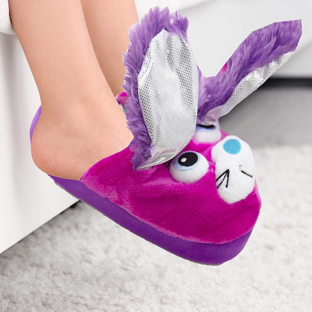 Stompeez! Purple Bunny, Medium ( Shoe Size 11.5- 2)