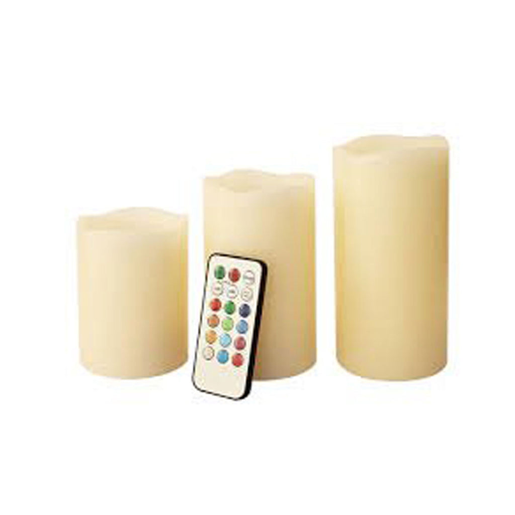 Akari Color Changing LED Candle (Set of 3)