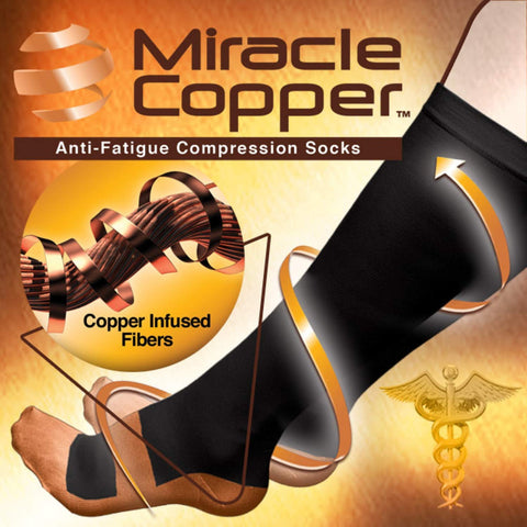 Miracle Copper Compression Socks  (Extra Firm) L/XL