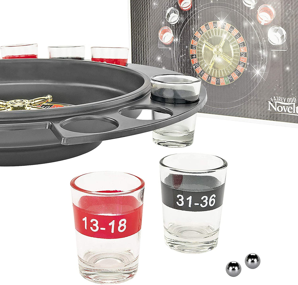Roulette O - 6 Glass Drinking Shot Game