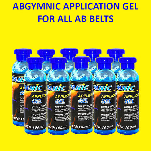 AbGymnic Application Gel for All Ab Belts (100 ml) 10 Pack