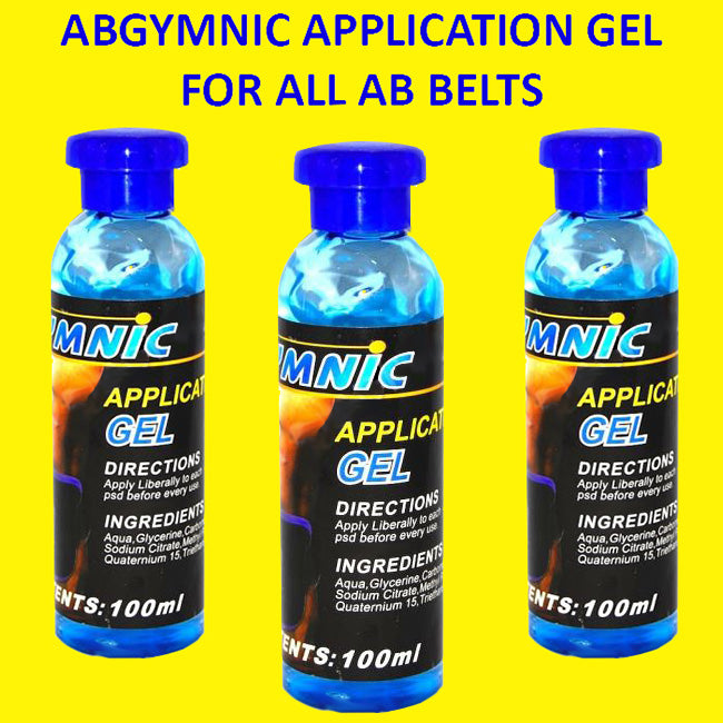 Abgymnic Application Gel for All Ab Belts (100 ml) 3 Pack