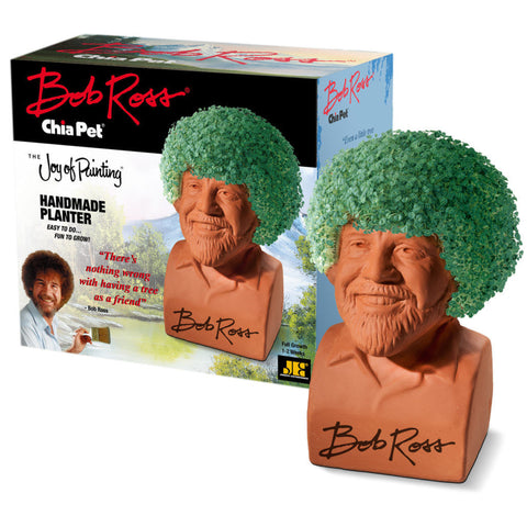 Chia Pet Planter - Bob Ross