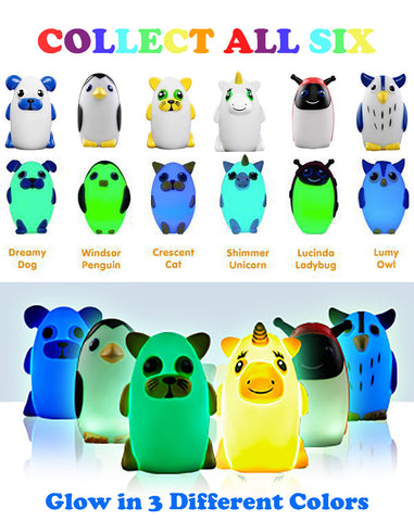Bright Time Buddies Night Light- Ultimate 6 Pack