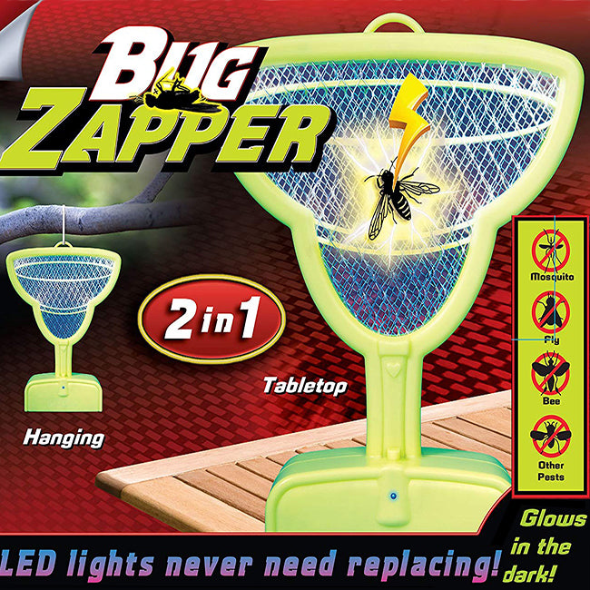 Bug Zapper 2 in 1 Hanging or Table Glows In The Dark - Margarita Glass