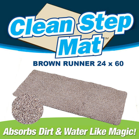 "Clean Step Mat Runner (24"" - 60"") Tan 2 Pack"