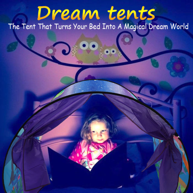 DreamTents Fun Pop Up Tent- Fantasy Forest- Twin Size