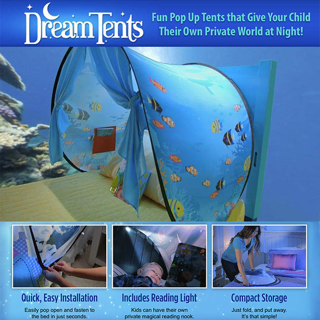 DreamTents Fun Pop Up Tent- Undersea World- Twin Size