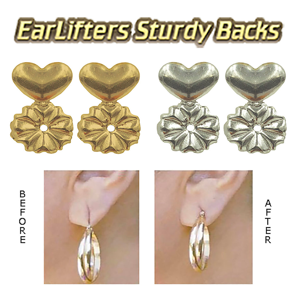 Earlifters Sturdy Backs - Invisible Ear Lobe Support Backs