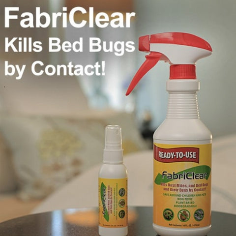 FabriClear Bed Bug Spray,  16 oz. w/ Bonus Travel Spray 2 oz.
