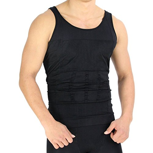 Men's Instant Slimming Undershirt - Black - Med