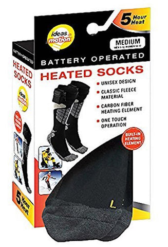 Ideas In Motion Battery Operated Heated Socks, X-Large ( Men 13-15)