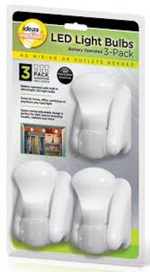 Battery Operated Led Pull-string Light Bulbs - Set of 3