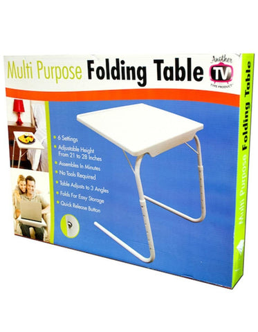 Multi-Purpose Folding Table- (White)