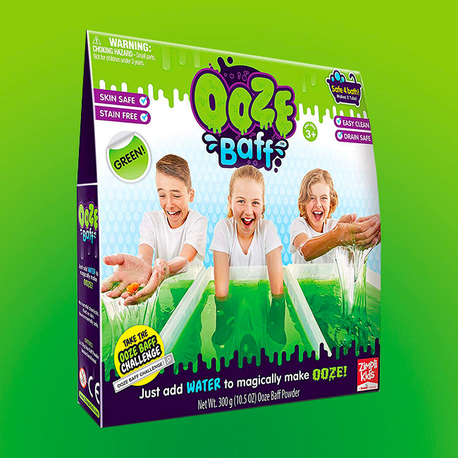 Ooze Baff-Single Use Bath Gel Toy, Green, 150g
