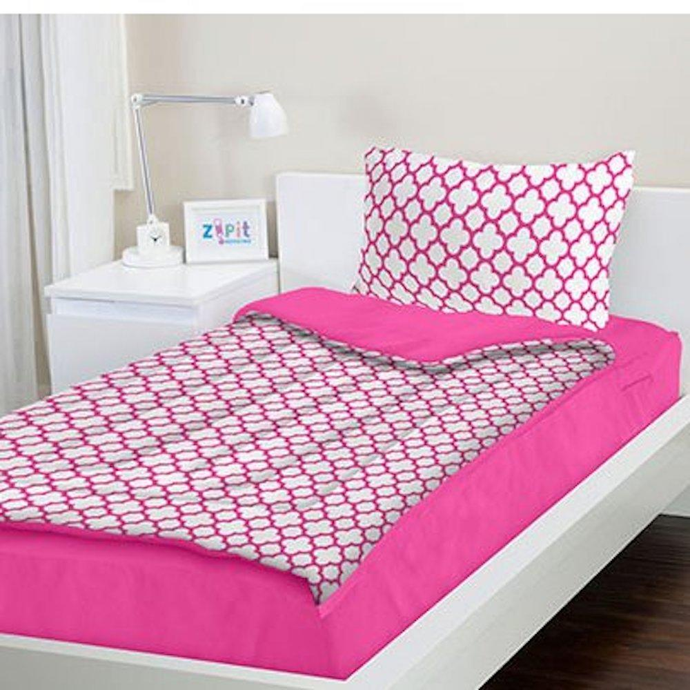ZIPIT Bedding Set- Pink Clover (Twin)