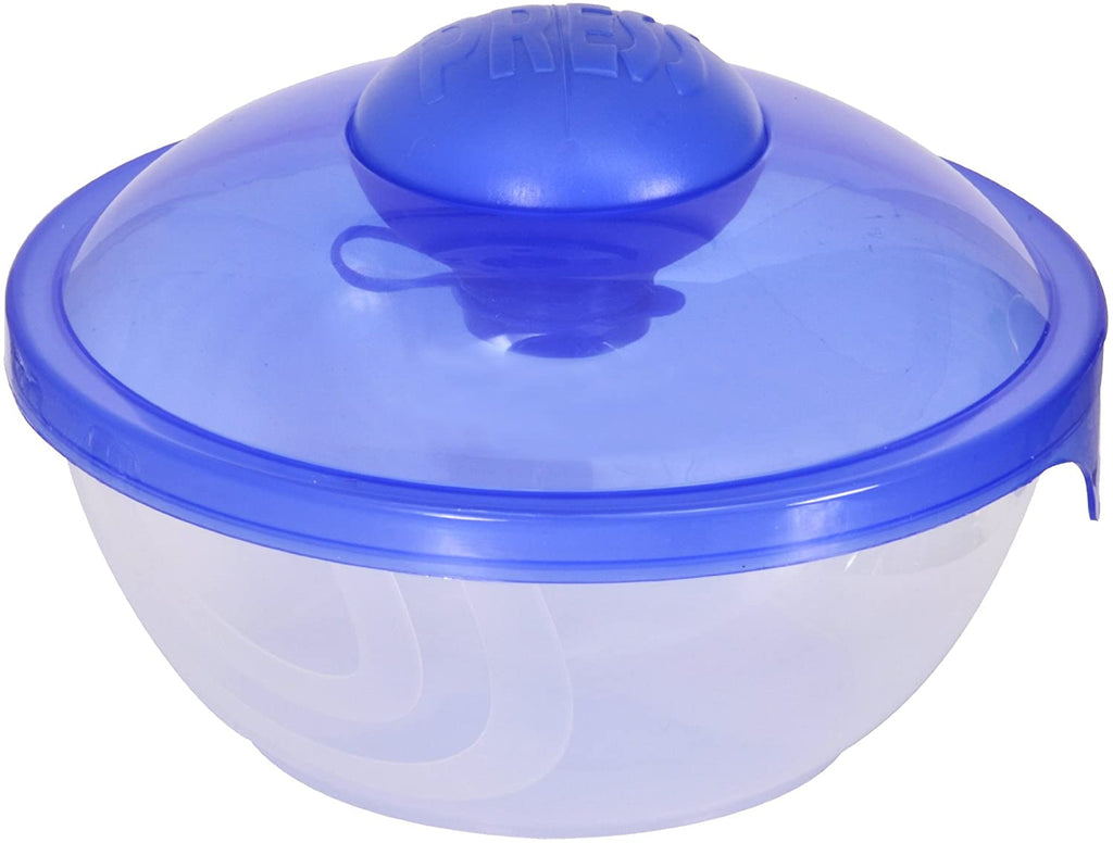 Compac Salad Blaster Salad On The Go Cup With Dressing Container, 26 Ounce Blue