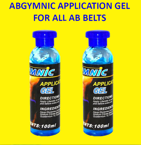 AbGymnic Application Gel for All Ab Belts (100 ml) 2 Pack