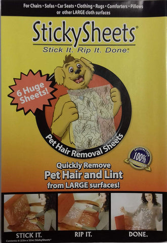 Sticky Sheets - Pet Hair Removal System - 12 Sheets