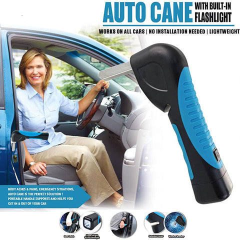 Auto Cane - Portable Car Cane with Built-in Flashlight
