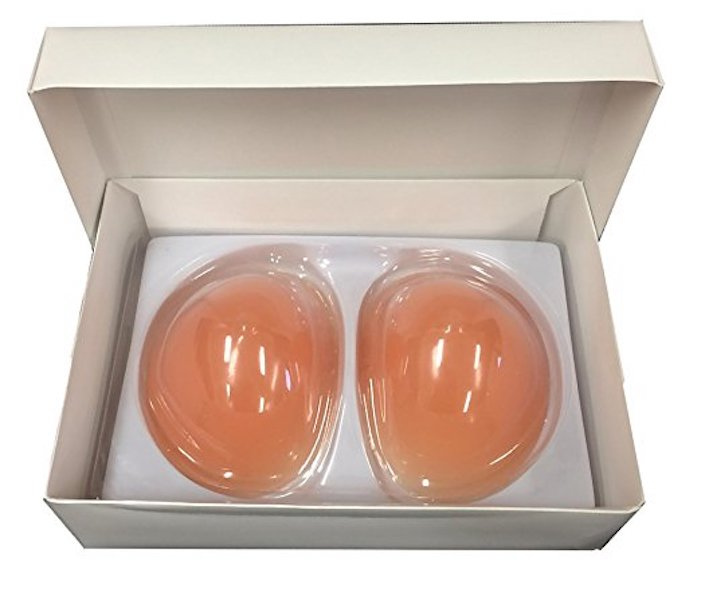 Boobs in a Box Silicone Breast Enhancers Inserts (Nude)- Large