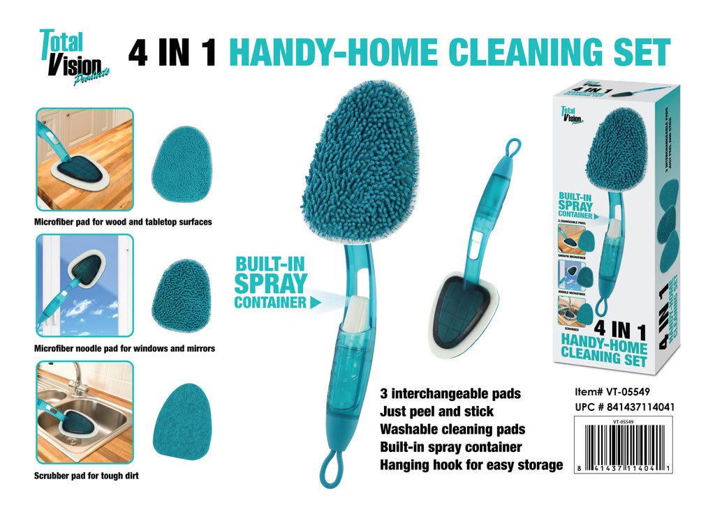 4-n-1 Handy-Home Cleaning Set