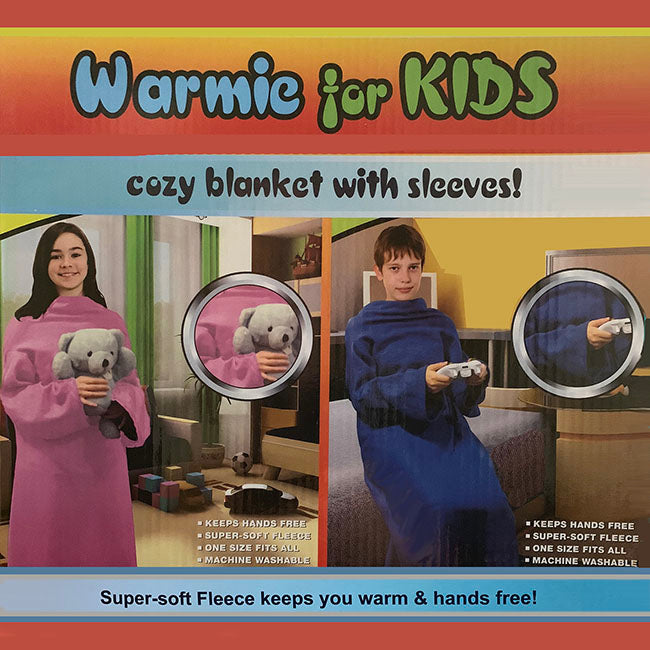 Warmie for Kids - Cozy Blank with Sleeves! (Pink)