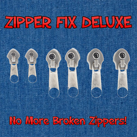 Deluxe Zipper Fix- Grey 6 Pack