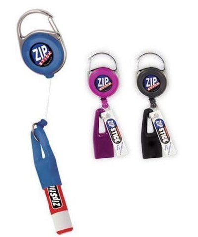 Zip Stick Retractable Lip Balm Holder - 2 Pack- Assorted Colors