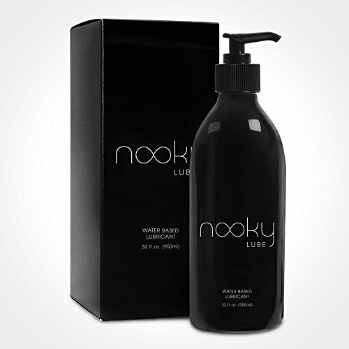 Personal Water Based Lube for Men, Women - Nooky Lubes 32oz Made in USA