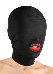 Master Series Disguise Open Mouth Hood with Padded Blindfold - Men Guide Store