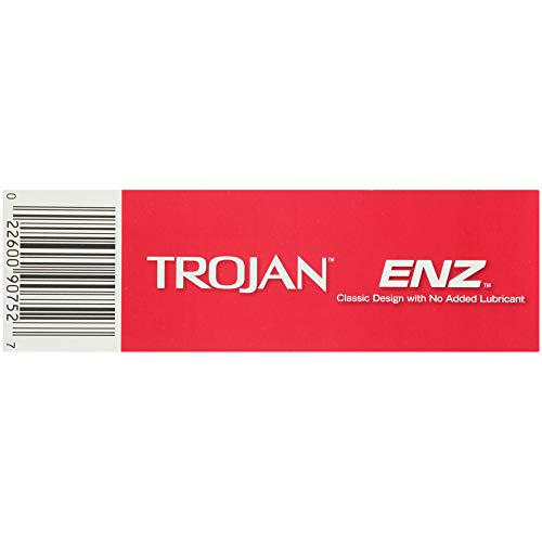 Trojan ENZ Natural Latex Non-Lubricated Condoms - 12 Count (Packaging May Vary)