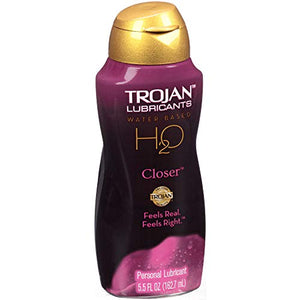 TROJAN Lubricants Water Based H2O Closer Personal Lubricant, 5.5 oz.