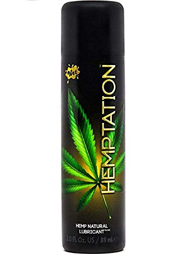 Wet Lubes Wet Hemptation Natural Hemp Formula Lubricant, 3.0 Fluid Ounce/ 89ml - Men Guide Store