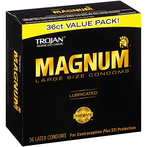 Trojan Magnum Lubricated Latex Large Size Condoms - Men Guide Store