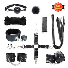 10 Pcs BDSM Toys Leather Bondage Sets Restraint Kits Sex Things for Couples. - Men Guide Store