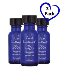 Pure Instinct (3-Pack) - The Original Pheromone Infused Essential Oil Perfume Cologne - Unisex Attracts Men and Women - Men Guide Store