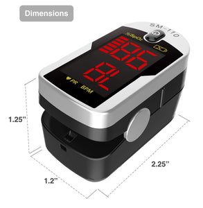 Deluxe SM-110 Two Way Display Finger Pulse Oximeter - Men Guide Store