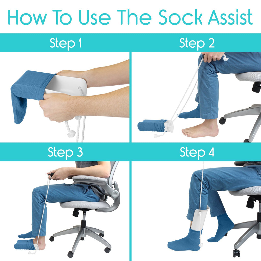 Vive Sock Aid - Easy On and Off Stocking Slider - Men Guide Store